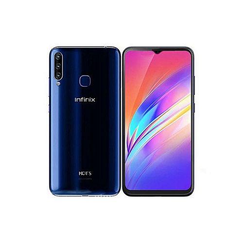 Infinix Hot S4 - 32GB+3GB (Dual SIM),32MP AI Selfie -Blue