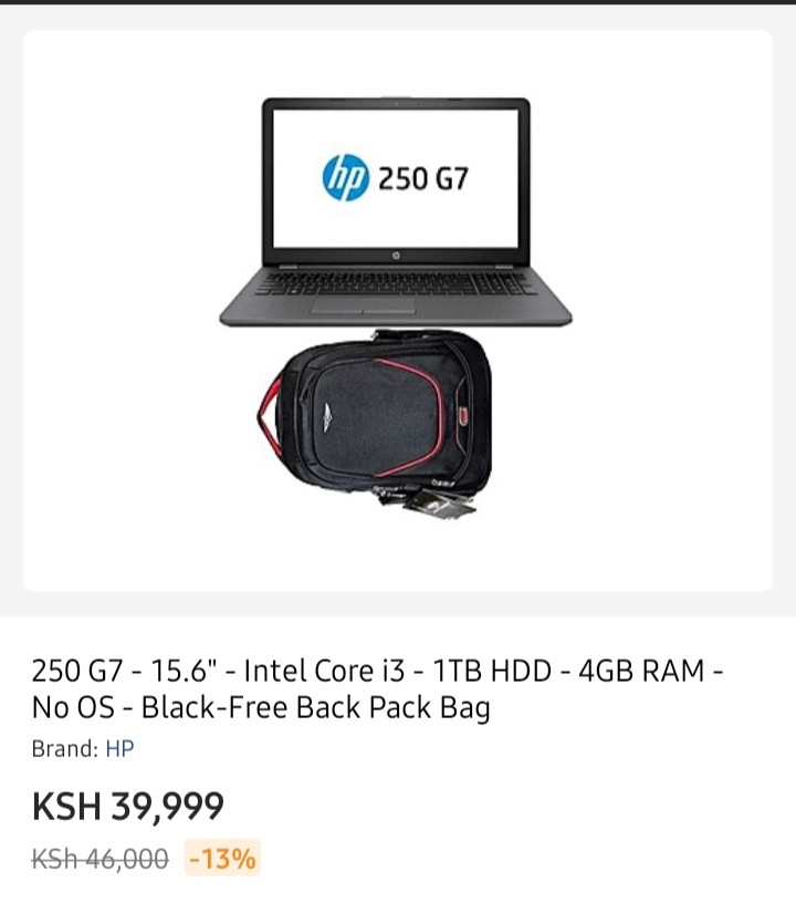 HP 250 G7 Specs and prices in Kenya